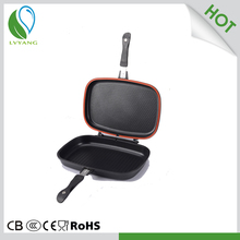 ceramic coated double sided grill pan double sided frying pan