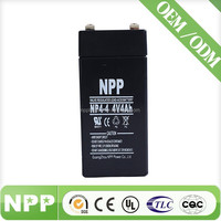 4v4ah rechargeable sealed lead acid storage battery for E-toy