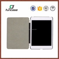 Custom tablet covers and cases PU Leather three flip smart case for ipad pro with stand function