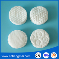 Wholesale Soft Round Shape 100% Cotton Cosmetic Cotton Wool Pads Makeup Remover Pads