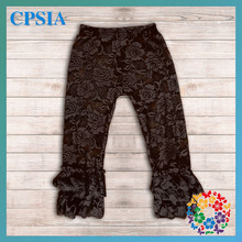 wholesale Baby ruffle leggings cute baby lace pants with ruffle hot sale