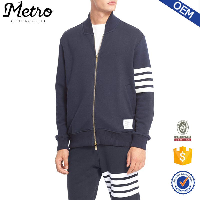 2015 OEM Manufacturer Custom French Terry Sweat Jackets, Wholesale Blank Varsity Jackets