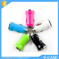 Fashion Travel Portable Dual USB Car charger, mobile car charger for Iphone/Smartphone/Laptop