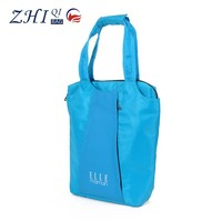 ZQ-J-010 Dongguan Nylon factory direct sale BSCI reusable folding unique shopping bag