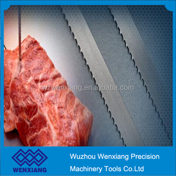Sharp meat band saw blade for meat cutting
