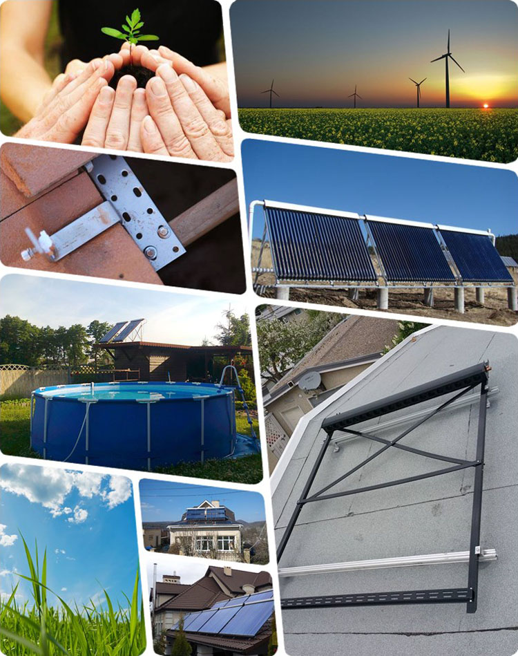 Ce certification 3000l stainless steel solar water heater
