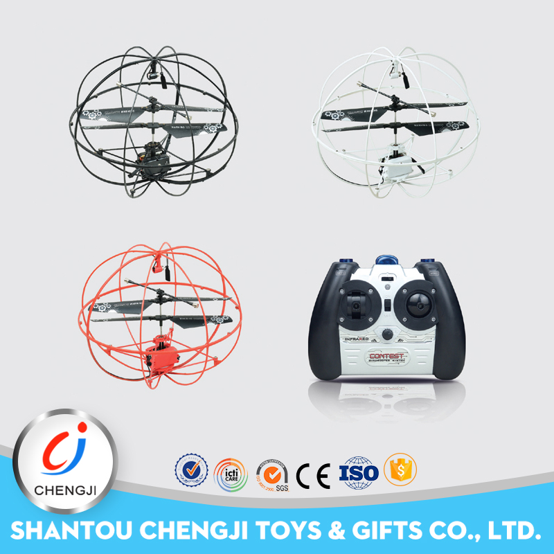Amazing mini rc 3ch Infrared Induction soccer plastic model toy flying ball helicopter