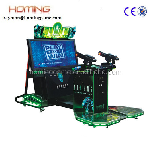 Aliens Extermination shooting game machine/Aliens extermination game machine/super great arcade shooting game machine