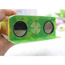 Logo printed promotional craft fold-able telescope or folding paper binoculars