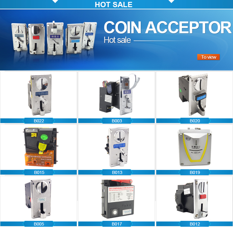 Made in China factory direct price cpu electronic coin selector for massage chair and wending machine