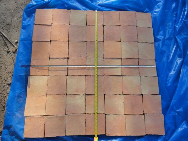 Terracotta hand made clay tiles