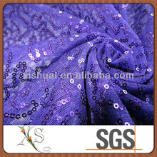 Purple Mesh Sequin Dress Fabric, floral sequin embroidery fabric