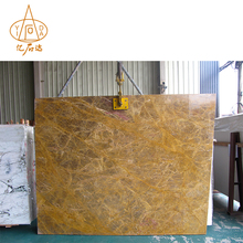 Fujian Good Color Big Size Poly Gold Marble Slab Countertops Vanity Tops