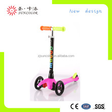Sun color 3 wheel adult kick scooter for wholesale