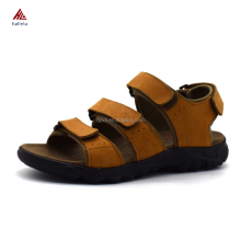 New Design High Quality Full Grain Genuine Leather Men Summer Open Toe Outdoor Beach Sandals