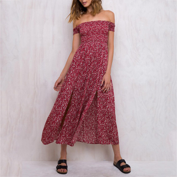 Summer casual designer one piece maxi dress long summer 2017