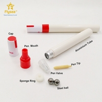 China manufacture safety can refillable paint empty white ink dry erase marker pen parts