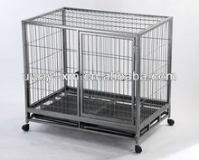 Large square tube dog crate with wheels