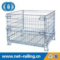 Secure stackable PET preforms roll wire cage