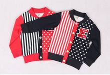 Two-tone cardigan T-shirt for kids, printd with stars, hot sale children clothing