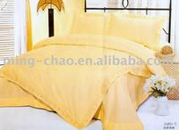 100% cotton gold jacquard bedding set with duvet cover set