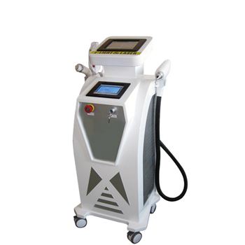 All in One E-light ipl rf+nd yag laser /SHR remove hair permanently multifunctional beauty machine