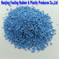 Colored EPDM Rubber Granules - 08 Light Blue- FLB02