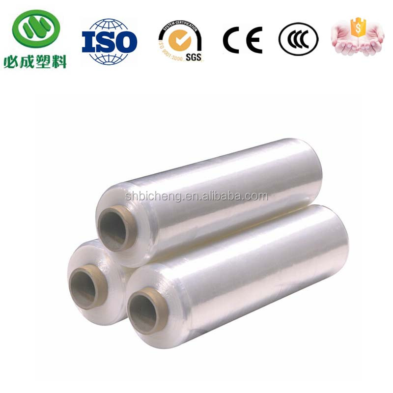 Thickness and transparency wrap plastic film jumbo roll