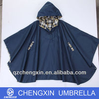 double layers waterproof rain poncho for bike