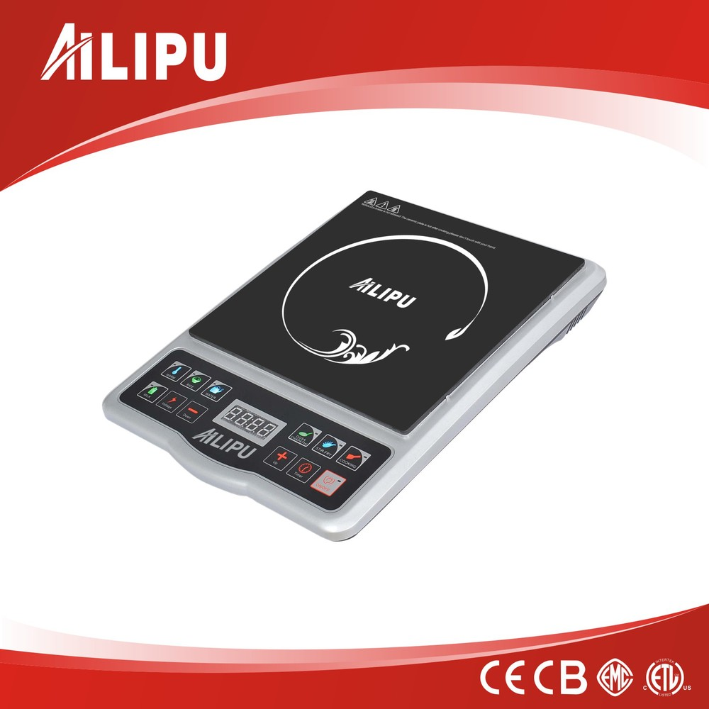 2015 LED Display Push Button Electric Induction Cooker with Plastic Housing