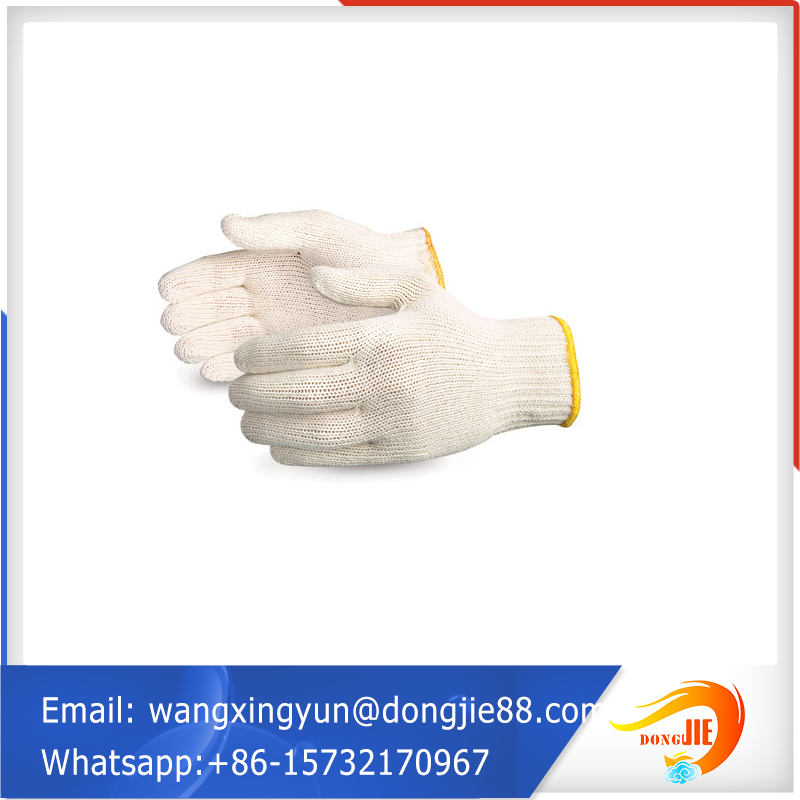 knitted cotton polyester work gloves/cotton knitted freezer gloves
