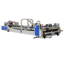 Factory price fully automatic 4 6 corner corrugated carton box folder gluer machine for sale