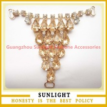 Alibaba China Supplier Wholesale Rhinestone Shoe Accessories Chain Made in China