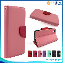 Factory price New arrival Mixed colors pu leather flip cover case for Cherry Mobile Flare S4 mini