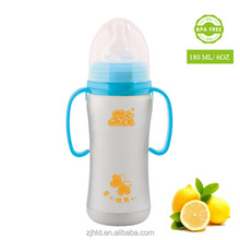 180ML Automatic BPA FREE Stainless Steel Baby Feeding Bottle Unbreakable Baby Bottle