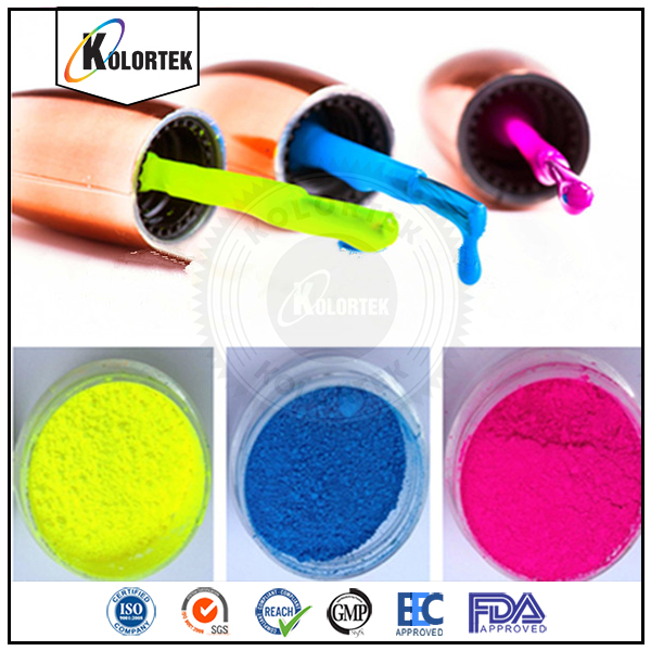 UV fluorescent pigment nail polish luminous powder