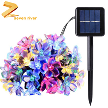 50 LED Blossom Mini Solar String Light Flower for Outdoor Home Lawn Party
