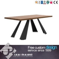 European style design home furniture, high end classic wooden dining table and chair