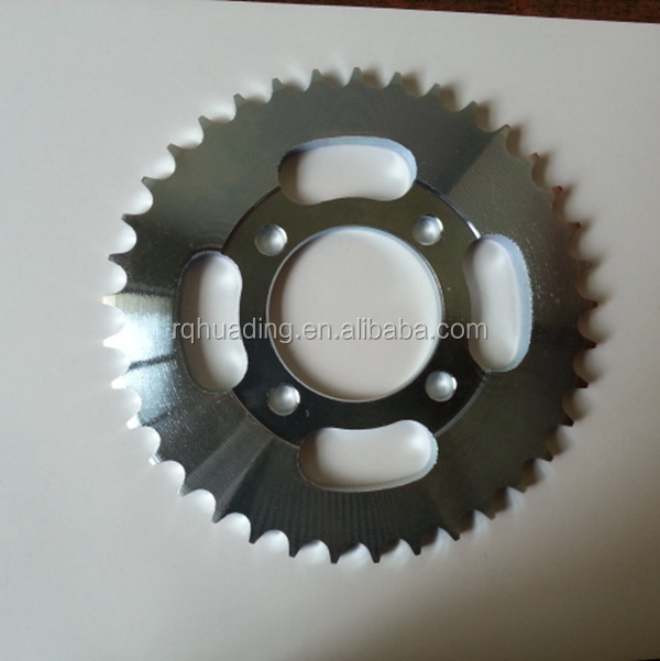CG125/CG150 motorcycle sprockets with CNC line;CNC motor sprockets wheel