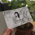 Customized High Quality Hair Extension Business Cards With Marble background