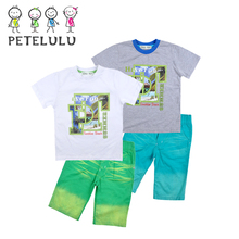 Summer Sunshine Beach 3D Printing Children's T Shirts Cropped Pants Wholesale