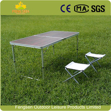 Aluminum MDF camping table picnic table outdoor folding table