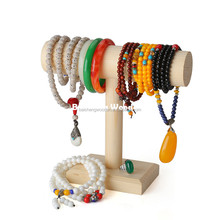 modern wood jewelry displaying rack wooden hanging jewelry rack