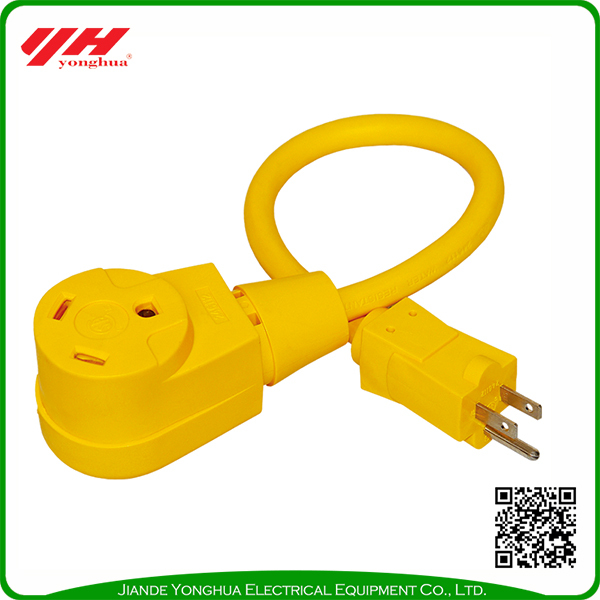 RV power cord with male female plug