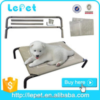 elevated orthopedic chewproof steel frame pet dog bed