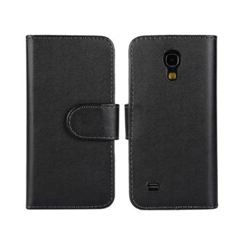 PU Leather Wallet Pouch Case for Samsung Galaxy S4 Mini with Stand TV Function