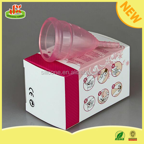 Wholesale medical folding collapsible silicone menstrual cup fda