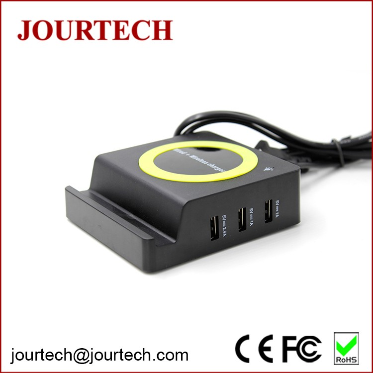 3 USB Qi Wireless Multifunction Best Universal Mobile Charger with CE ROHS FCC