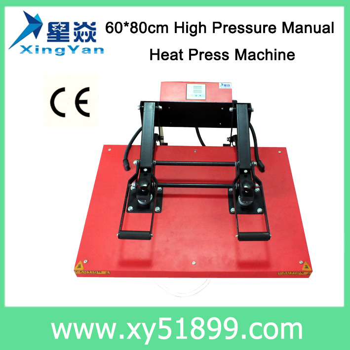 60*80CM T-shirt High Pressure Hand Sublimation Heat Press <strong>Machine</strong>