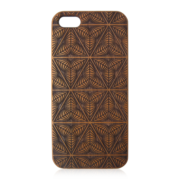 Cheap wood phone case carved wooden case protective phone shells for iPhone 5